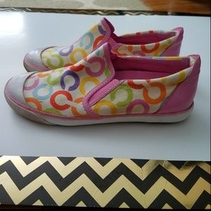 COACH Size 6 Beale Multicolored Logo Shoes Slip On